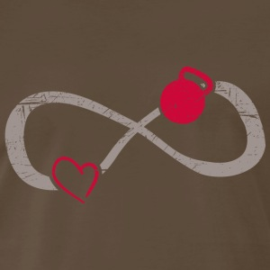 Infinite Love ∞ I Love Kettlebells ∞ Gym Fitness - Men's Premium T-Shirt