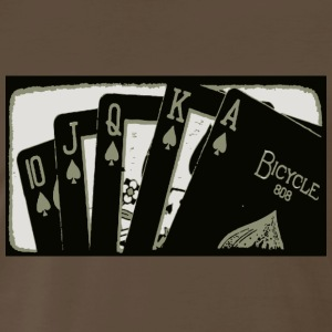 Cards Royal Flush - Men's Premium T-Shirt