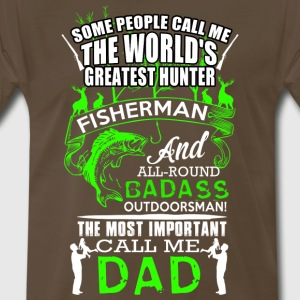 FISHING DAD BADASS - Men's Premium T-Shirt