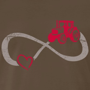 Infinite Love ∞ I Love Farming ∞ Tractor - Men's Premium T-Shirt