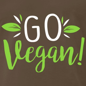 Go Vegan Veganism Vegetables green life - Men's Premium T-Shirt