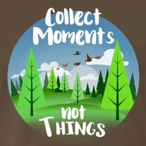 Collect moments not Things - Men's Premium T-Shirt