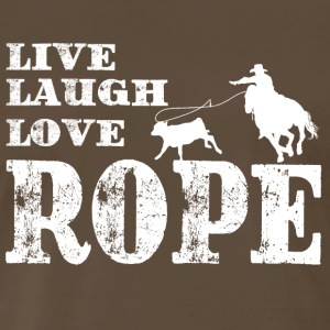Live Laugh Love Rope. - Men's Premium T-Shirt