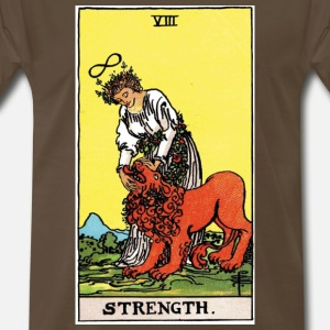 STRENGTH RIDER WAITE TAROT
