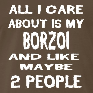 Dog i care about is my BORZOI - Men's Premium T-Shirt