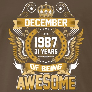 December 1987 31 Years Of Being Awesome - Men's Premium T-Shirt