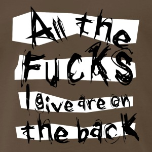 No fucks given - Men's Premium T-Shirt
