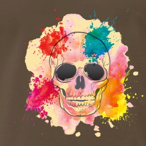 GIFT - COLOR SPLASH SKULL - Men's Premium T-Shirt