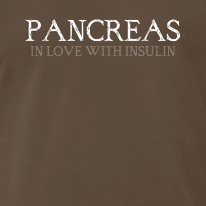 pancreas in love with insulin - Men's Premium T-Shirt