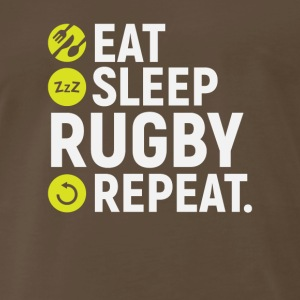 Eat, sleep, rugby, repeat - Gift - Men's Premium T-Shirt