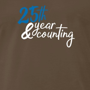 25 year counting - Men's Premium T-Shirt