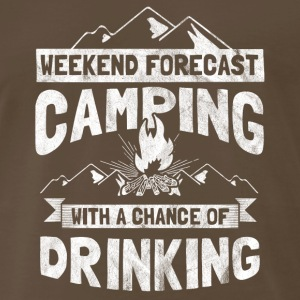 Camping with chance of drinking - gift for camper - Men's Premium T-Shirt