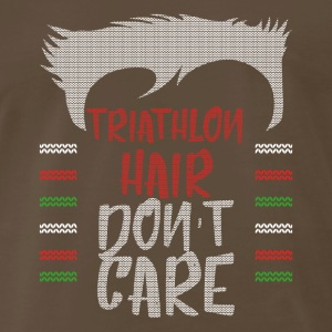 Ugly sweater christmas gift for triathlon - Men's Premium T-Shirt