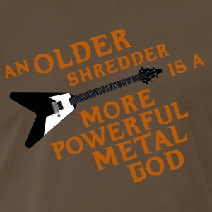 An Older Shredder is a More Powerful Metal God - Men's Premium T-Shirt