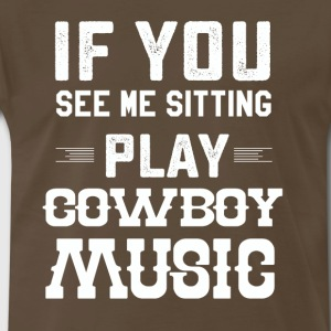 Country western music tshirt - Men's Premium T-Shirt