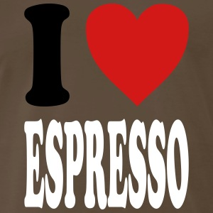 I love Espresso (variable colors!) - Men's Premium T-Shirt