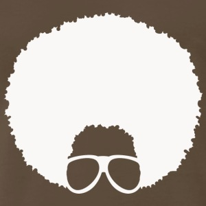 Afro with Glasses #4 (in white) - Men's Premium T-Shirt