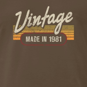 Vintage MADE IN 1981 - Men's Premium T-Shirt