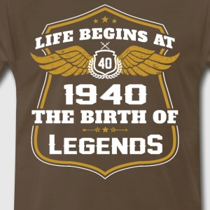 Life Beigns At 1940 The Birth Of Legends - Men's Premium T-Shirt