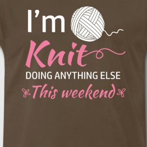 Cute knitter gifts - Men's Premium T-Shirt