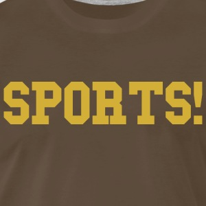 Sports gold t shirt - Men's Premium T-Shirt