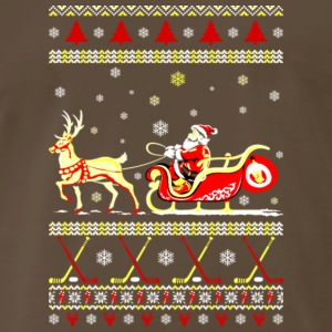 Santa Ugly Christmas Sweater T Shirts - Men's Premium T-Shirt