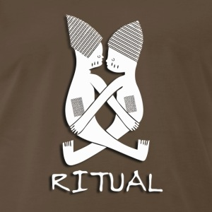 Ritual (#1, White w/Shadow) - Men's Premium T-Shirt