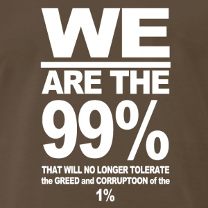 WE ARE THE 99 T SHIRT OCCUPY WALL STREET ANTI COR - Men's Premium T-Shirt