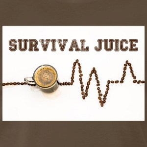 Coffee is Survival Juice - Men's Premium T-Shirt