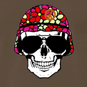 Peace Army Skull (4022) - Men's Premium T-Shirt