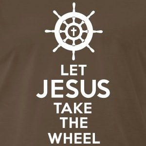 Jesus Take the Wheel - Men's Premium T-Shirt