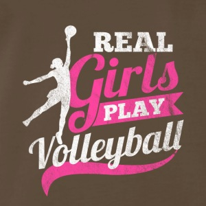 Real girls play Volleyball - Men's Premium T-Shirt