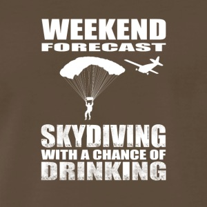 Sky Diving with a chance of drinking - Men's Premium T-Shirt