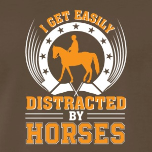 I Get Easily Distracted By Horse Riding - Men's Premium T-Shirt