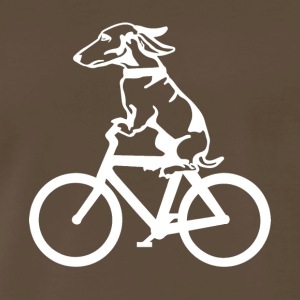 Dog on byclce shirt- Funny DOg On Bicycle tshirt - Men's Premium T-Shirt