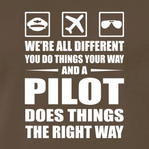 You Do Your Way Pilot Does Right Way - Men's Premium T-Shirt