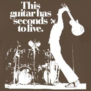 THIS GUITAR HAS SECONDS TO LIVE - Men's Premium T-Shirt