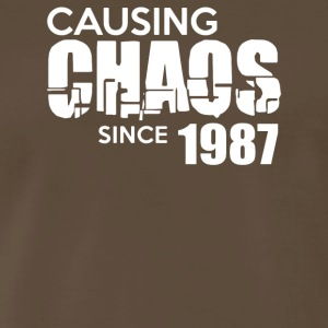 Causing Chaos Since 1987 - Men's Premium T-Shirt