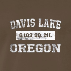 Davis Lake Oregon T Shirt 6 103 Sq Miles Distress - Men's Premium T-Shirt