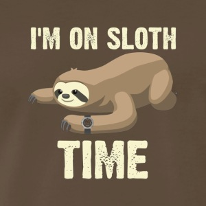 I m On Sloth Time Funny Procrastinator Lazy Sleep - Men's Premium T-Shirt