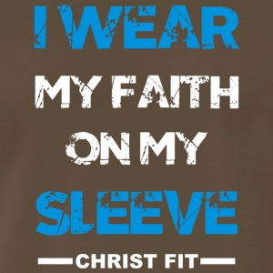 I wear my faith blue n white - Men's Premium T-Shirt