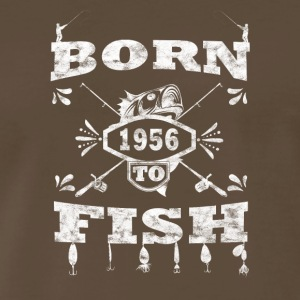 BORN TO FISH angle angeln 1956 - Men's Premium T-Shirt