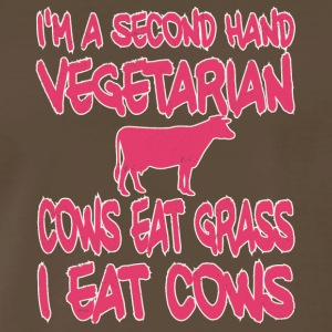 vegan t shirt Cows ear grass I eat cowns - Men's Premium T-Shirt
