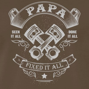 Papa Fixed It All T Shirt - Men's Premium T-Shirt