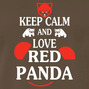 Keep Calm And Love Red Pandas Tees Shirt - Men's Premium T-Shirt