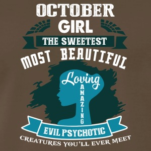 October girl The sweetest Most beautiful - Men's Premium T-Shirt