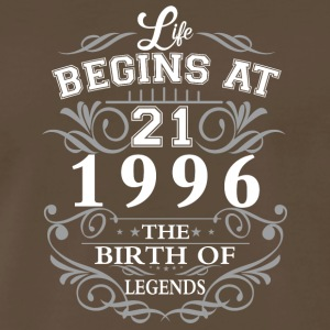 Life begins at 21 1996 The birth of legends - Men's Premium T-Shirt