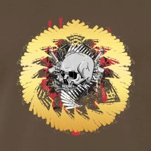 Skull design with a yellow circle - Men's Premium T-Shirt