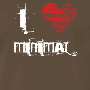 i love minimal techno dubstep rave - Men's Premium T-Shirt