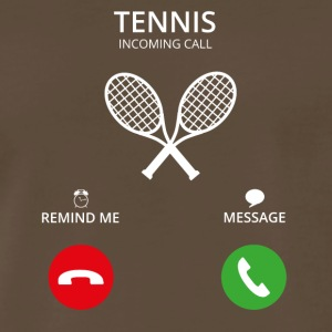Call Mobile Anruf TENNIS PLAYER - Men's Premium T-Shirt